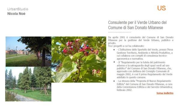 Consulente per il Verde Urbano delComune di San Donato Milanese