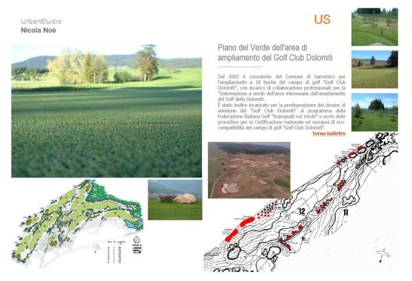 Progettazione agronomica dell'area di ampliamento del Golf Club Dolomiti