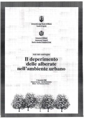 AMBIENTE URBANOEADATTABILITA' DELLE SPECIE ARBOREE