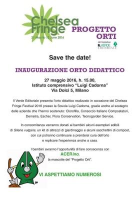 Inaugurazione Orto Didattico – Chelsea Fringe Milan 2016