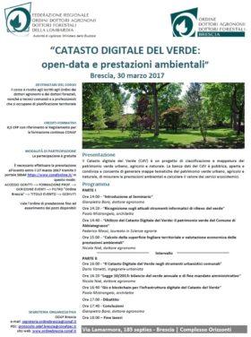 """Seminario: """"CATASTO DIGITALE DEL VERDE: open-data e prestazioni ambientali"""""""
