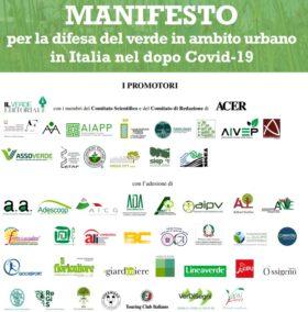 MANIFESTO per la difesa del verde in ambito urbano in Italia nel dopo Covid-19