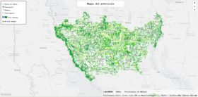 The map of where to plant the 3 million trees in the metropolitan city of Milan (Forestami.org)