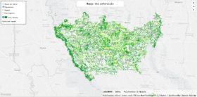 La mappa di dove piantare i 3 milioni di alberi nella città metropolitana di Milano (Forestami.org)
